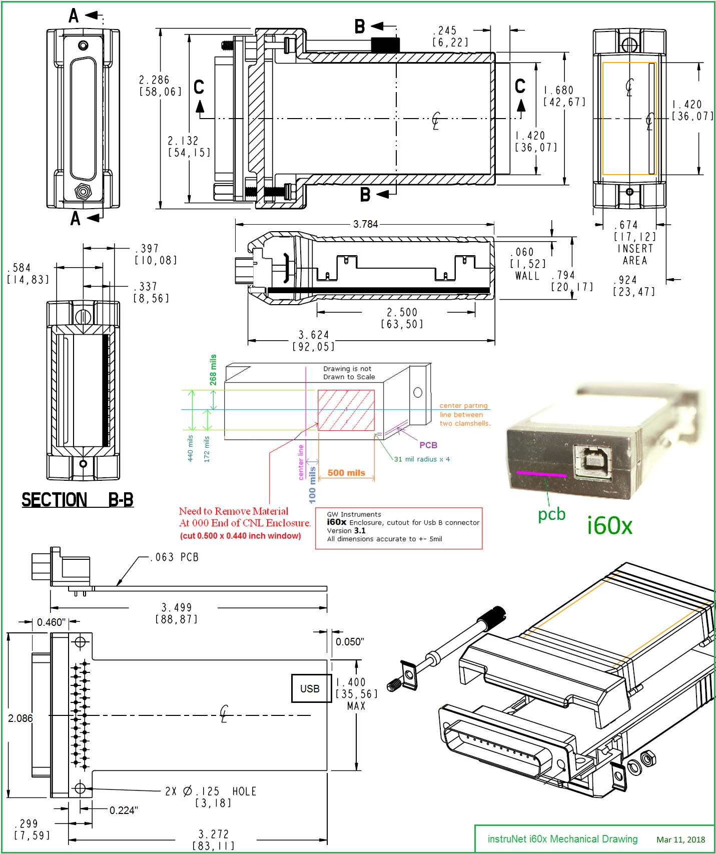 Instrunet Inet 600 601 Usb Data Acquisition Direct To Thermocouple Wiring Schematic See I60x Mechanical Drawing